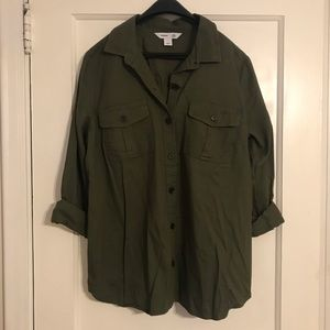 Old Navy Olive Green Classic Button Down